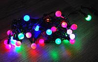 Новогодняя гирлянда с фигурками, шарики 32 Led 1,6см
