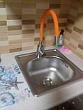 Врезная кухонная мойка Galaţi (Eko) Mala Satin 38*38 квадратная матовая, фото 6