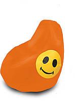 Кресло груша Оксфорд Смайл оранжевая   TIA-SPORT