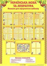 Українська мова і література. Комплект плакатів для оформлення кабінету. (ПіП)