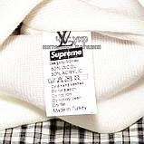 Модна чоловіча в'язана шапка з бубоном Louis Vuitton Supreme біла шерсть молодіжна трендова тепла репліка, фото 4