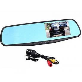 Зеркало регистратор на две камеры DVR-208 + ПОДАРОК D1001  (S00282)