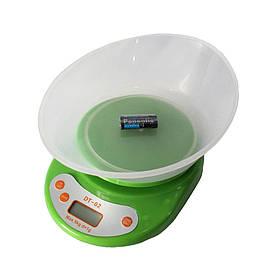 Кухонные электронный весы с чашей Domotec DT-02 + ПОДАРОК D1001  (S00286)