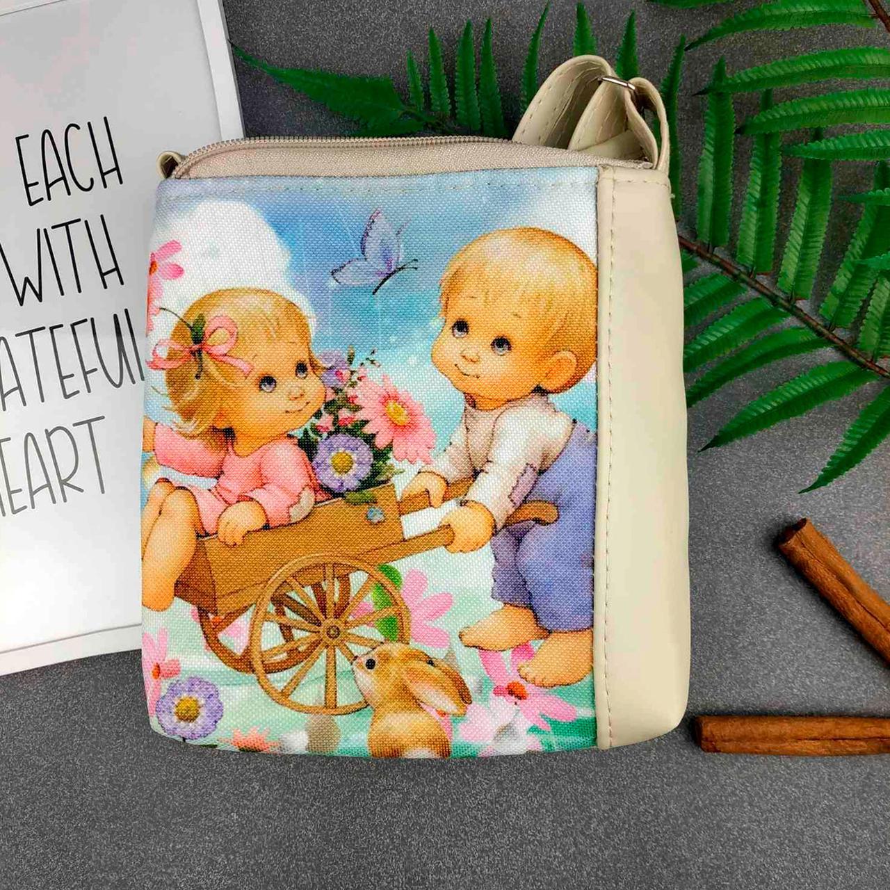 Детская сумка для девочки с принтом Дети