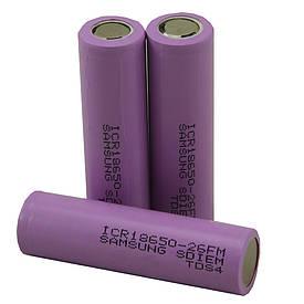 Аккумулятор для электронных сигарет 18650 реальная емкость 2550 mAh  (S00416)