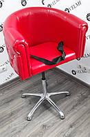 """Детское парикмахерское кресло для стрижки детей """"Obsession"""" на пневматике хром"""