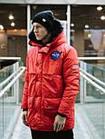 😜 Парка - Мужская очень теплая куртка NASA красная, фото 3