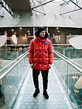 😜 Парка - Мужская очень теплая куртка NASA красная, фото 4