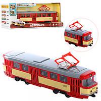 Детская машинка Трамвай интерактивный PLAY SMART 9708D