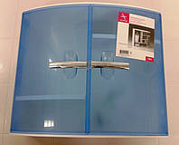 Шкафчик с дверцами для ванных комнат, цвет синий