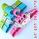 """Плечики вешалки детские костюмные розового цвета """"бантик"""", длина 29 см, фото 2"""
