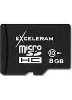 Карта памяти eXceleram 8Gb microSDHC class 10