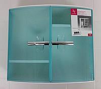 Шкафчик с дверцами для ванных комнат, цвет зеленый