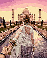 Картина по номерам на цветном холсте 40Х50см Babylon Premium Следуй за мной Индия