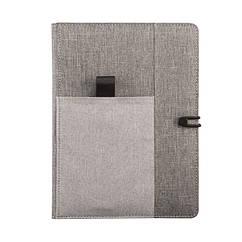 Органайзер-блокнот Kyoto с отделением под телефон, ручку и другие аксессуары (2 цвета на выбор) Серый