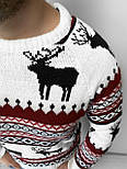 😜 Свитшот - Мужской свитшот с оленями белый, фото 3