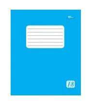 Тетрадь 18 листов клетка эконом класса + голубая обложка