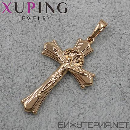 Крестик Xuping медицинское золото 35 х 22 мм, фото 2