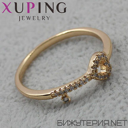 Кольцо Xuping медицинское золото 18K Gold - 1027649128, фото 2