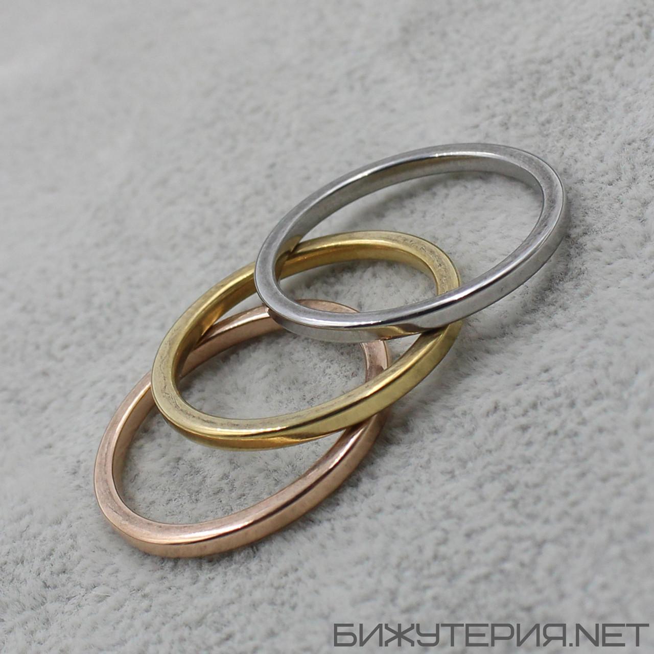 Мужское  кольцо 3 в 1 Stainless Steel