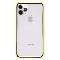 """Прозрачный TPU+PC чехол Epic с цветным бампером для Apple iPhone 11 Pro Max (6.5"""")"""