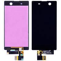 Дисплей для Sony E5603 Xperia M5 Dual Sim/E5606/E5633 с черным тачскрином (модуль, LCD)
