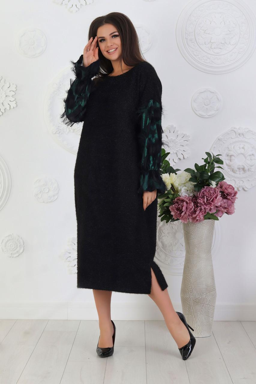 Теплое модное платье 05123