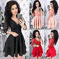 Женское нарядное платье №361(р.42-46) в расцветках