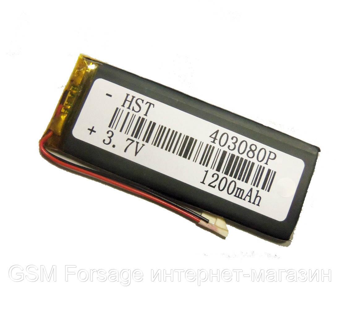 Аккумулятор универсальный 403080P 7.7 cm х 3.2 cm 3.7v 1200 mAh