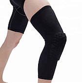 Наколенник защитный компресионный Zelart Knee Pads для баскетбола, волейбола, тенниса S-XL 1 шт. черный