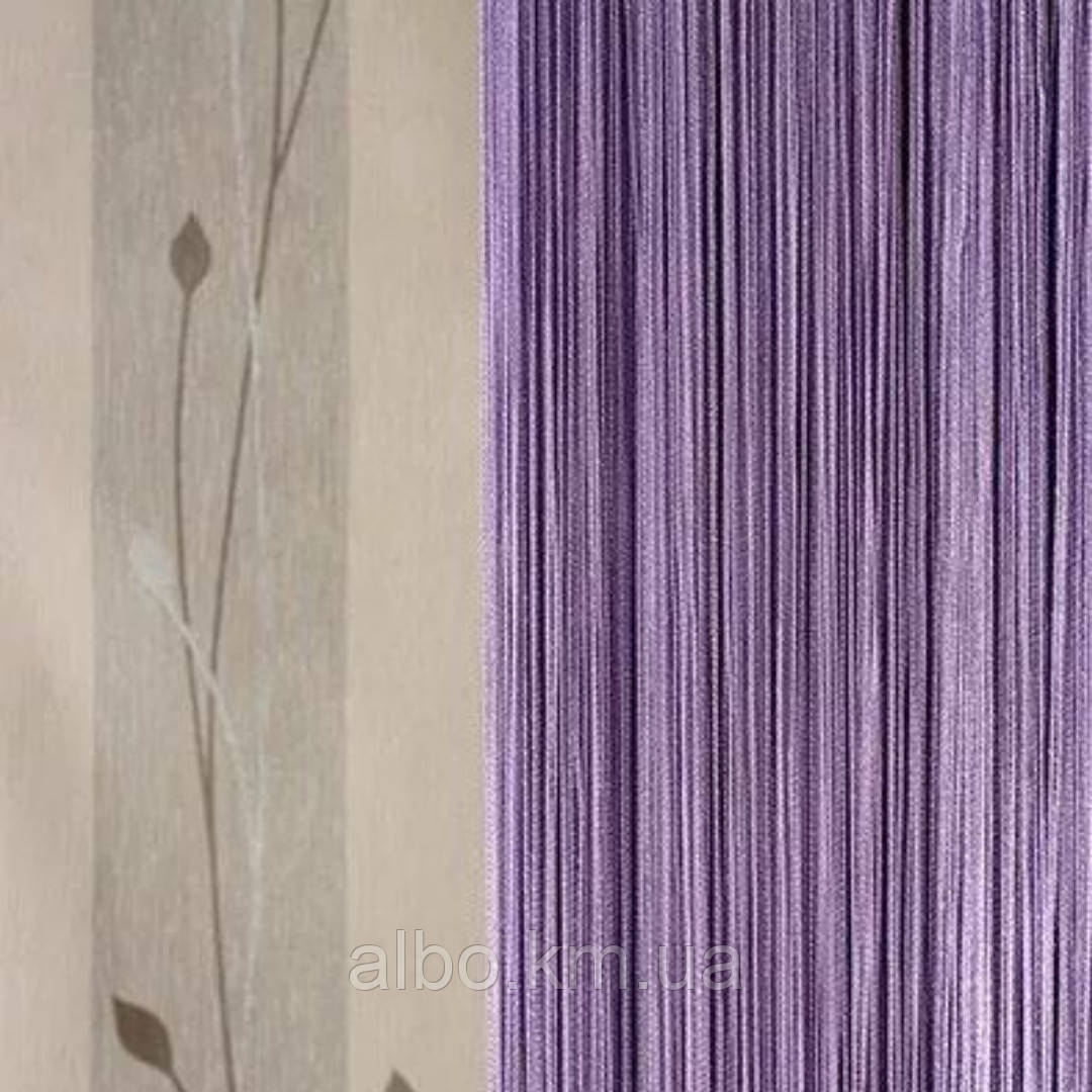 Шторы нити без люрекса 300x280 cm Фиолетовые (Ki-511)