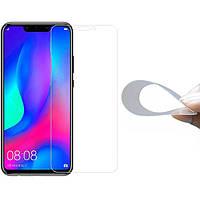 Гибкое защитное стекло 2.5D Nano (без упаковки) для Huawei P Smart+ (nova 3i)