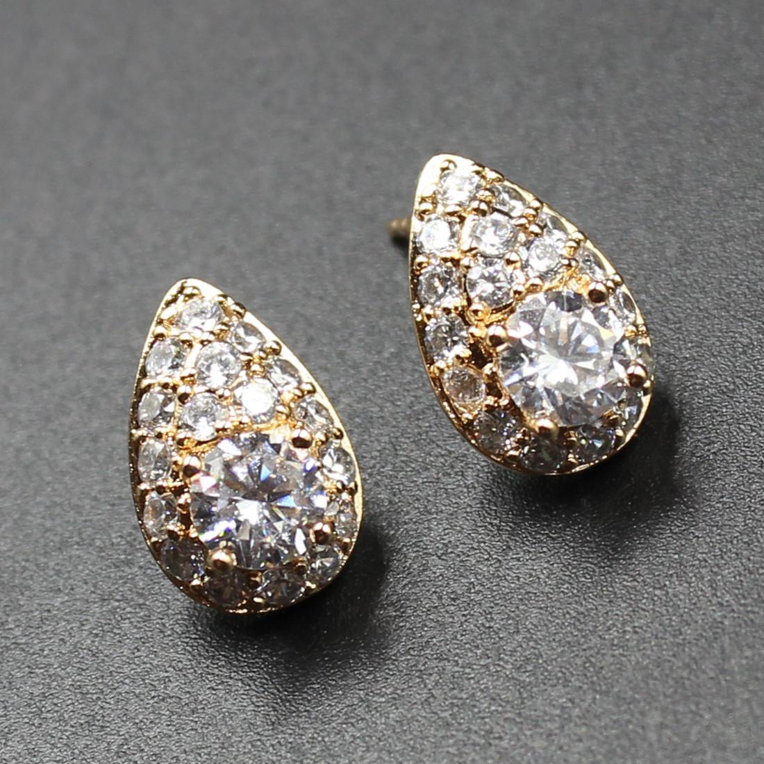 "Серьги женские ""Bletilla"" Xuping Jewelry (позолота)."