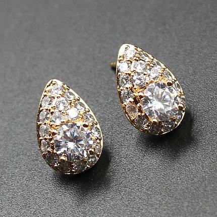 "Серьги женские ""Bletilla"" Xuping Jewelry (позолота)., фото 2"