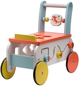Ходунки-каталка Labebe 2in1 wooden activity walker ride on HY1710015