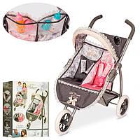 Візок 90311 для ляльки, прогулянковий, 3 колеса, двомісний, кор., 55-42-16 см.