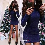 """Женское платье из трикотажа гофре с пайетками """"Flirt"""", фото 6"""
