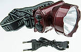 Фонарик на лобный YJ 1898-1 1LED аккумулятор, фото 2