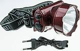 Ліхтарик на лобовий YJ 1898-1 1LED акумулятор, фото 2