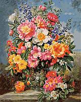Картина по номерам на цветном холсте 40Х50см Babylon Premium Сказочный букет