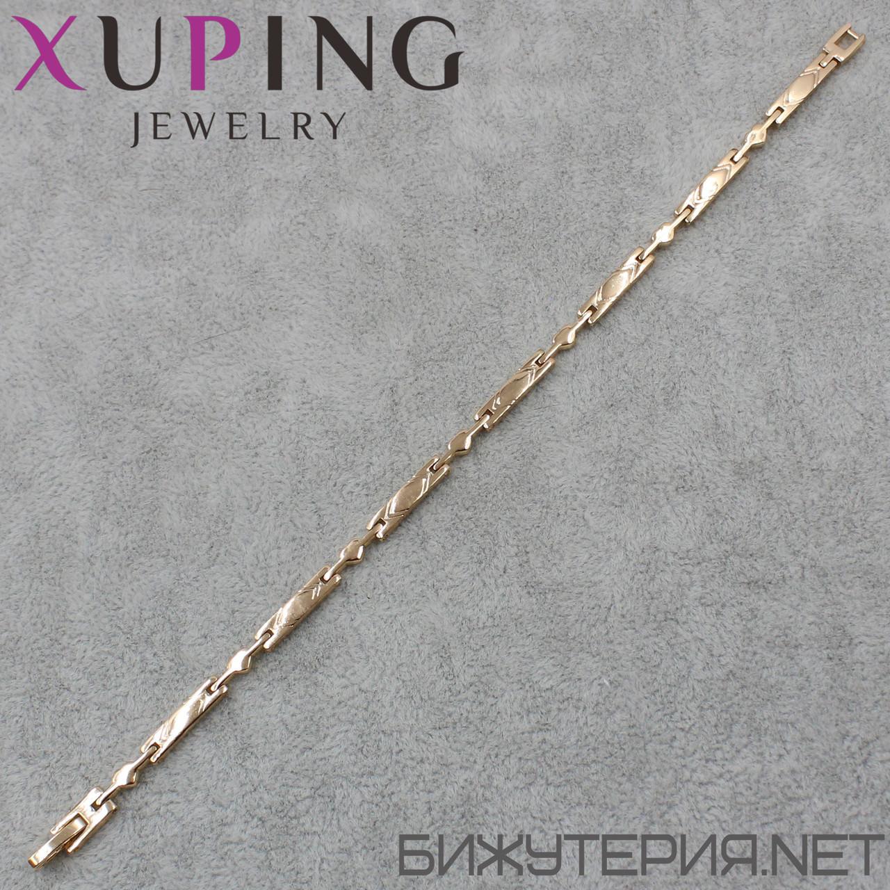 Браслет Xuping медицинское золото 19 см. 3 мм.