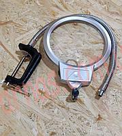 Лупа с подсветкой на струбцине Top-tight metal hose magnifying glass 15124-C
