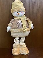 Снеговик Новогодняя игрушка телескопические выдвижные ноги