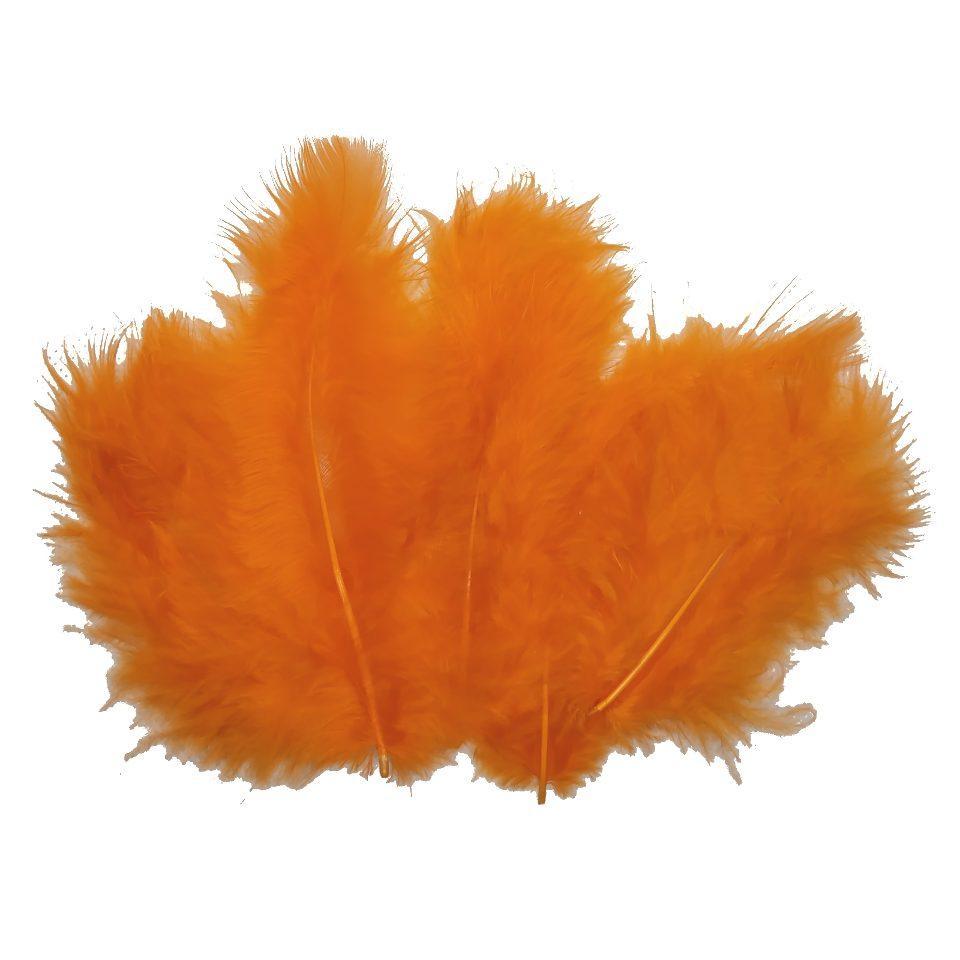 Декоративные перья оранжевые (100 шт)