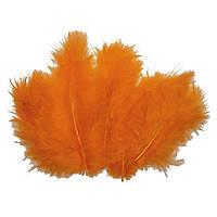 Декоративные перья оранжевые (100 шт), фото 1