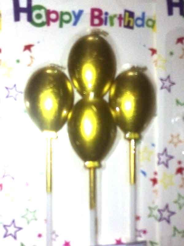Набор свечей шар-серебро/ золото (4шт)