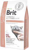 8325 Brit Veterinary Diet Renal для кішок з яйцем і горохом, 2 кг
