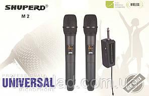 Беспроводные микрофоны универсальные портативные SHUPERD M2