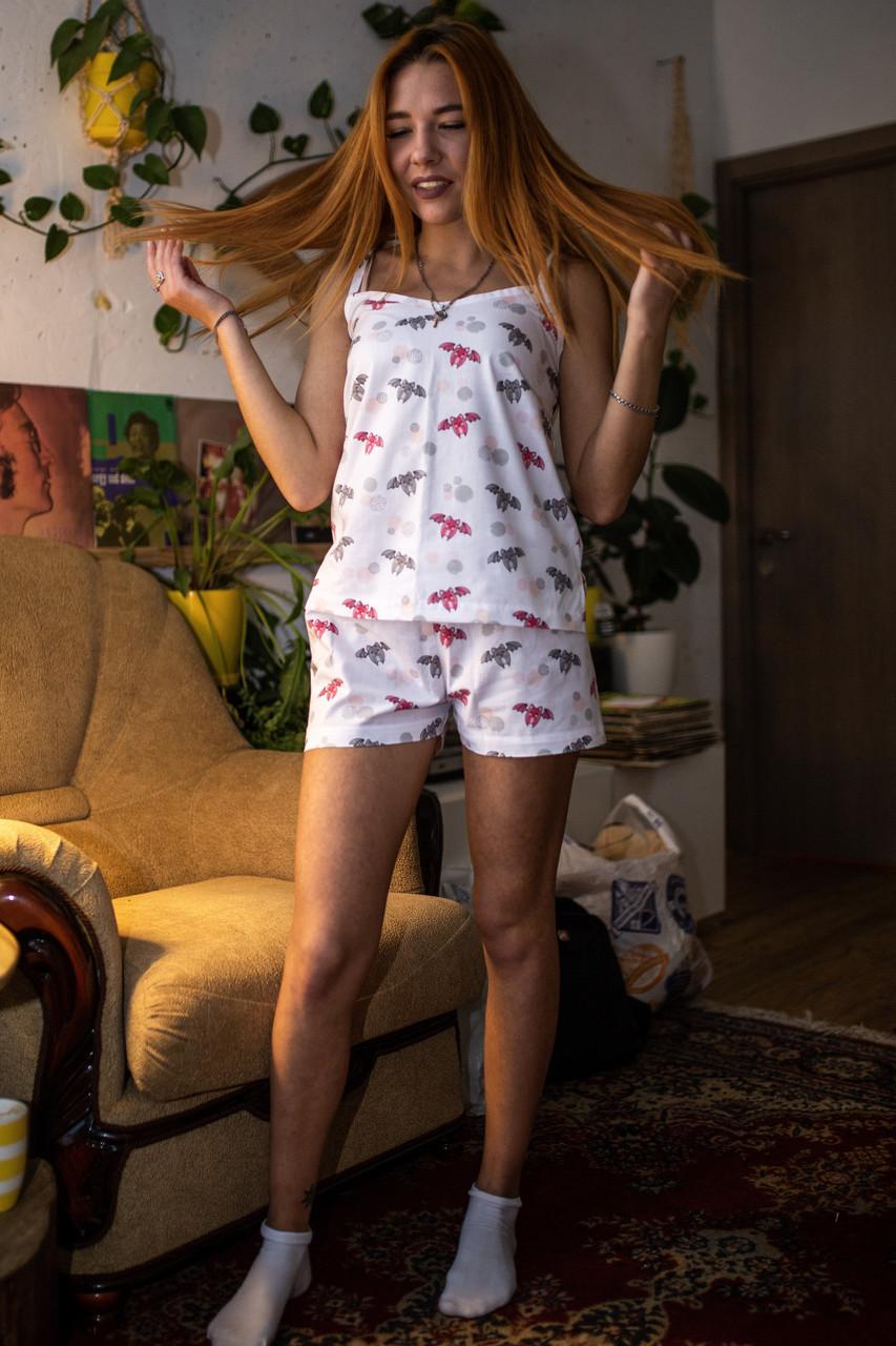 Пижама шорты с топом Летучие Мыши XL