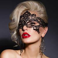 Маска ажурная карнавальная на лицо кружевная маска тканевая повязка на глаза
